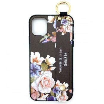 iPhoneケース 花 ケース ベルト リング付き アイフォンケース iPhone11/11Pro/ 11ProMax スマホケース