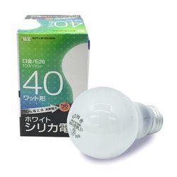 ホワイトシリカ電球 40W 長寿命10%省エネ  電球 ライト