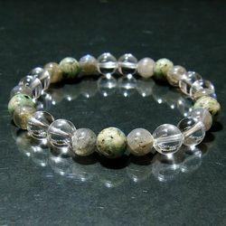 パワーストーンブレスレット ラブラドライト&K2&水晶 gemstonebracelet