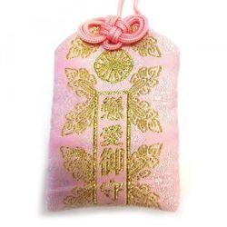 天然石御守 恋愛 御守 ピンク ローズクォーツ ビニールカバー付き gemstone amulet rose quartz success in love