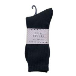 スポーツソックス(黒) メンズ 男性衣類 靴下くつした 運動 厚地