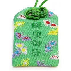 天然石御守 健康 緑 タイガーアイ ビニールカバー付き gemstone amulet tiger's eye  health prayer