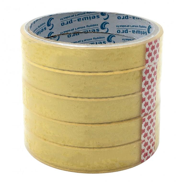 168クリア粘着テープ(15㎜×15m・5P)