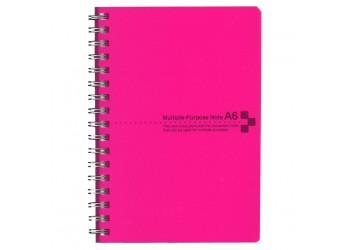 カラーカバーノートA6 ピンク