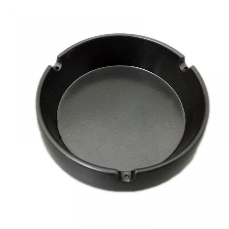 メラミン灰皿丸型(黒)