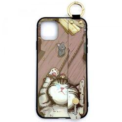 iPhoneケース 猫と鼠 iPhone11/11Pro/11ProMax ベルト リング付き アイフォンケース スマホケース カバー 猫 ネコ