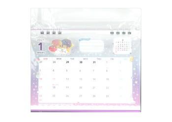 2021年卓上リングカレンダー(リトルツインスターズ)