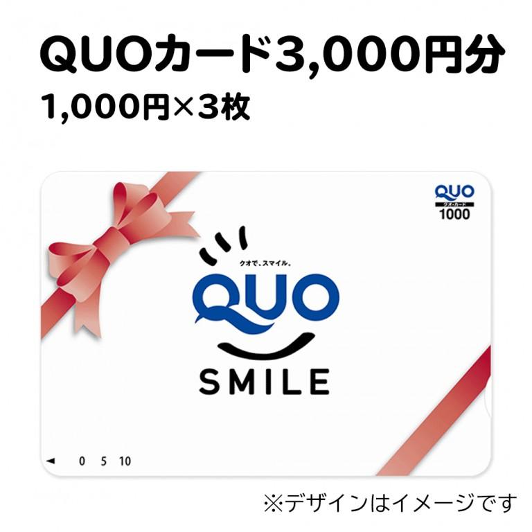 QUOカード3,000円分(ポイント交換)