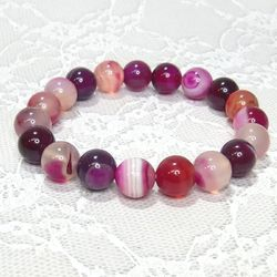 パワーストーン ブレスレット ピンクアゲート gemstonebracelet Pink agate