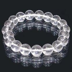 水晶 (クォーツ)ブレスレット 10mm gemstonebracelet crystal