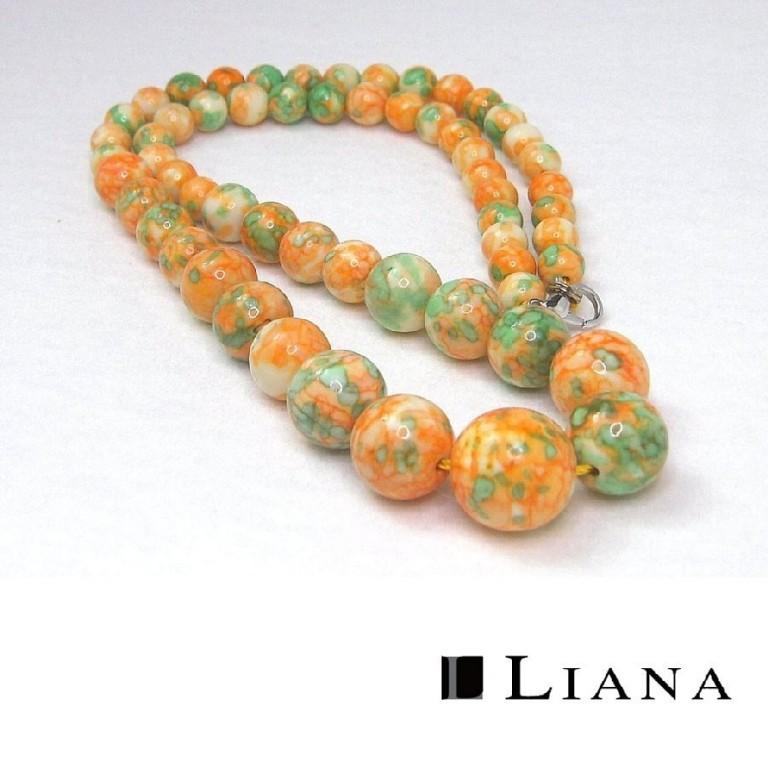 パワーストーンネックレス ジャスパー オレンジ 44cm gemstonenecklace Orange jasper