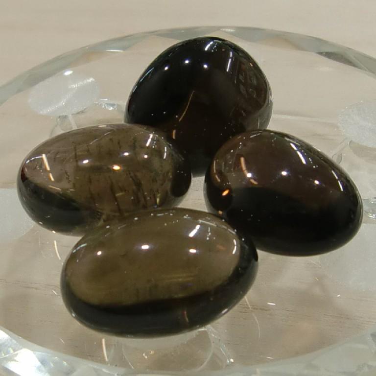 スモーキークオーツ タンブル 煙水晶 4個セット Smoky quartz Tumble