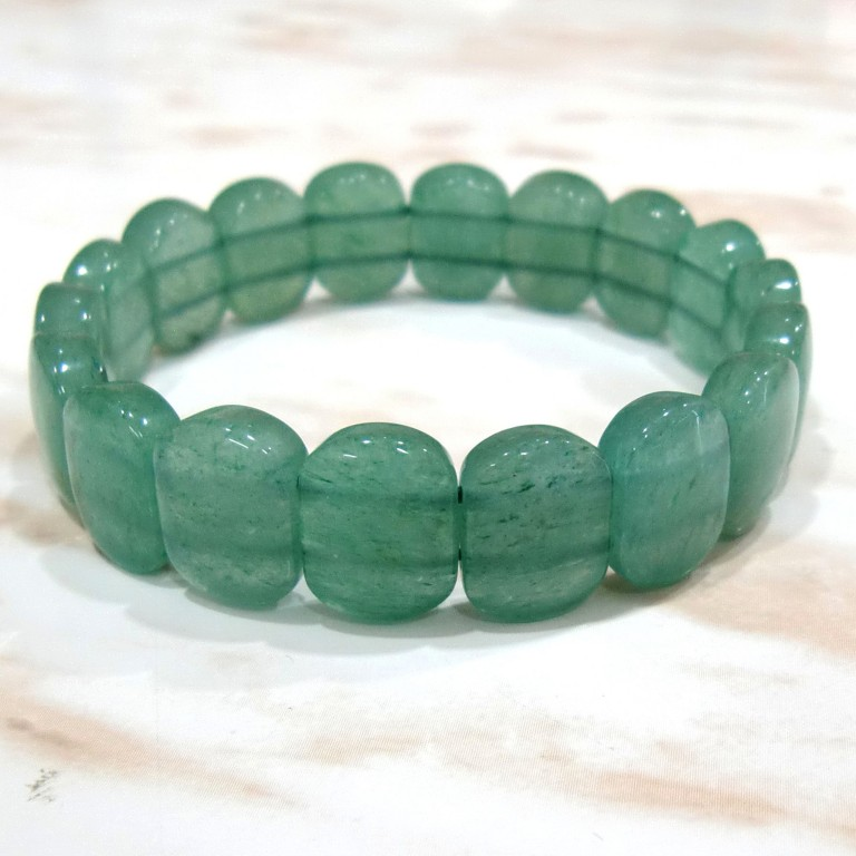 パワーストーン バングル アベンチュリン プレートカット gemstonebangle Green aventurine Green aventurine quartz