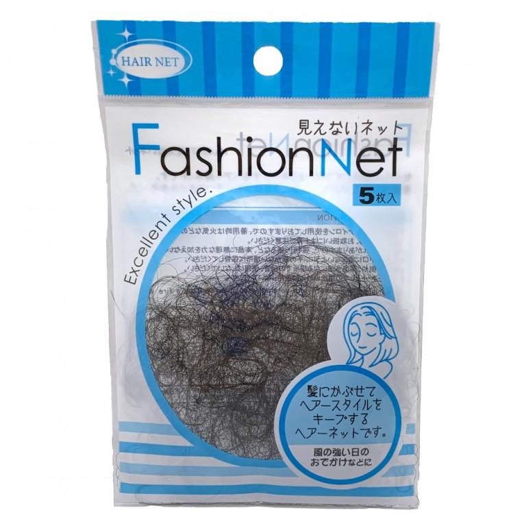 ファッションネット ヘアーネット 5枚入り 髪型キープ ヘアースタイル 100円均一