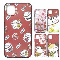 iPhoneケース 招き猫 開運 スマホケース iPhone11/11Pro/11ProMax TPUソフトケース  カバー 猫