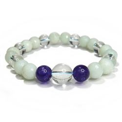 パワーストーン ブレスレット アマゾナイト・ アメジスト・水晶 gemstonebracelet