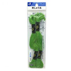刺しゅう糸(黄緑色)2P ステッチ 刺繍 ハンドメイド