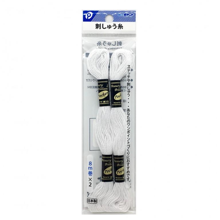 刺しゅう糸(白色)2P ステッチ 刺繍 ハンドメイド