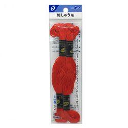 刺しゅう糸(赤色)2P ステッチ 刺繍 ハンドメイド