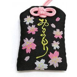天然石御守 浄石黒色 モリオン(黒水晶) ビニールカバー付き  gemstone amulet Morion